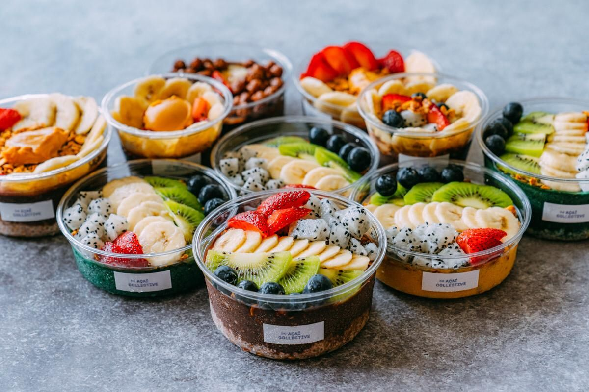 Acai bowls from The Acai Collective.